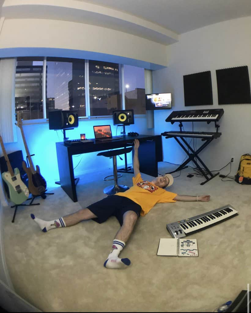 picture of lakey inspired in his studio