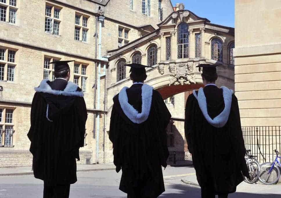 Three graduate students