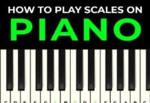 how to play scales on piano