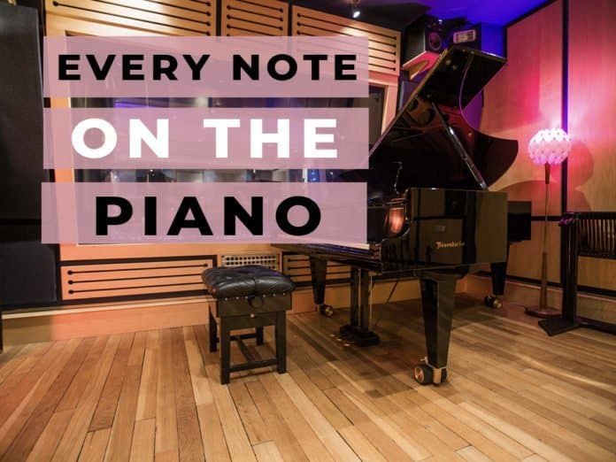 all notes on the piano