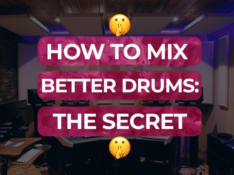 How to mix drums the secret