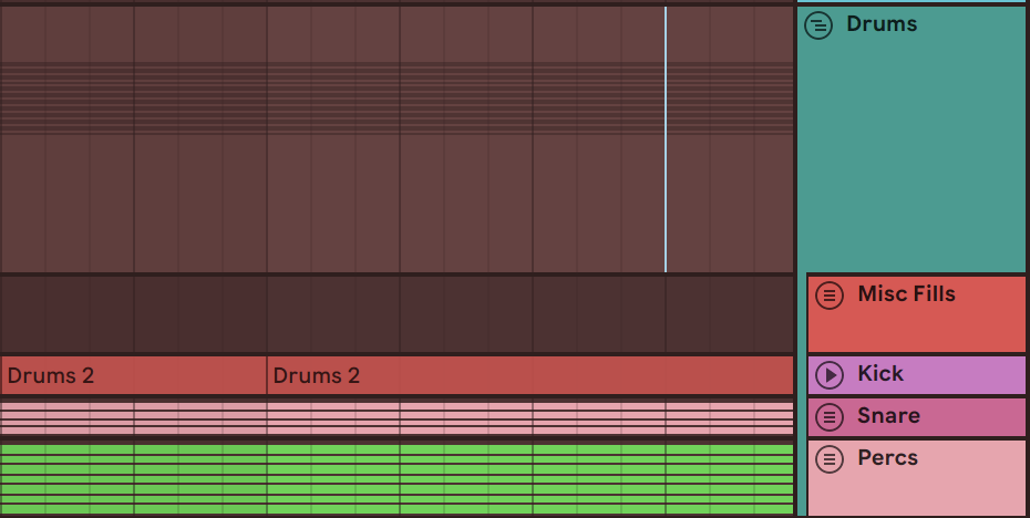 grouping drums in ableton live