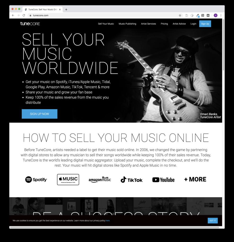 tunecore music distribution company