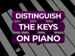 distinguish the keys on the piano
