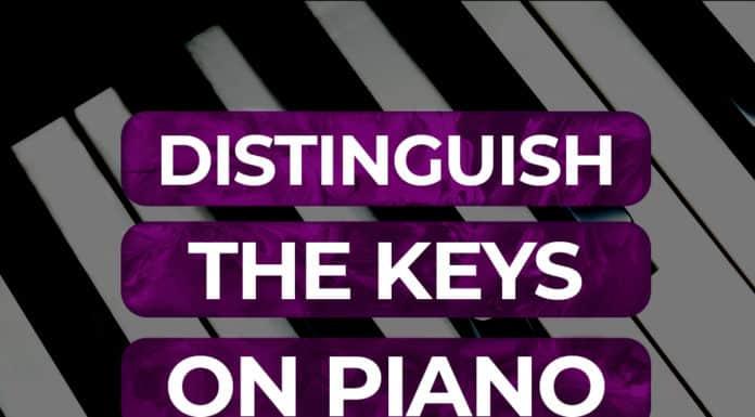 distinguish the keys on the piano