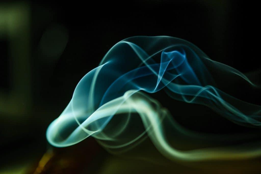 blue & white smoke