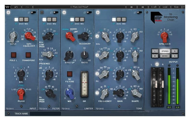 Abbey Road TG Mastering Chain plugin