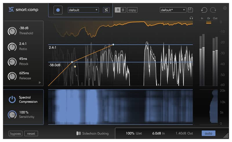 sonible smart comp an assisted AI compressor vst