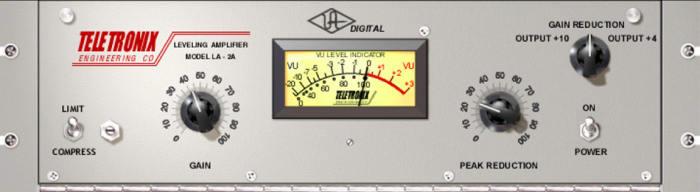 UAD LA-2A audio compressor plugin