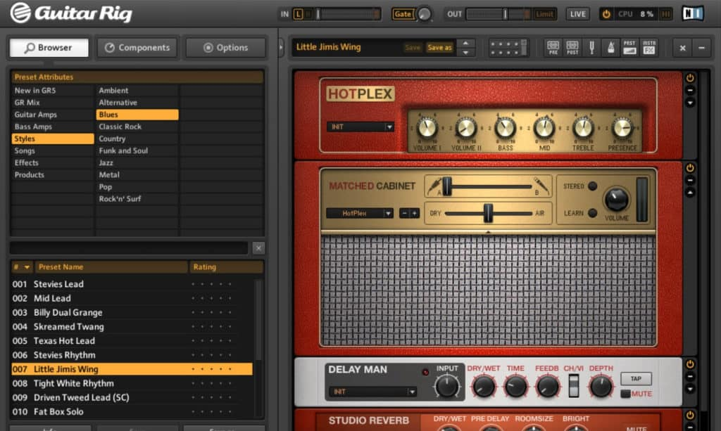 native instruments guitar rig 5 guitar amplifier plugin