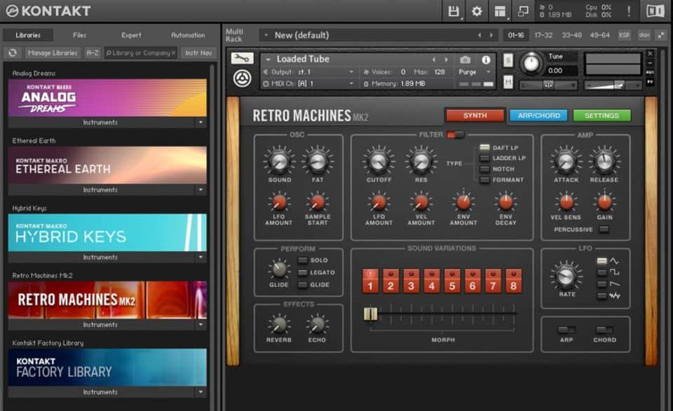 native instruments kontakt sampler virtual instrument