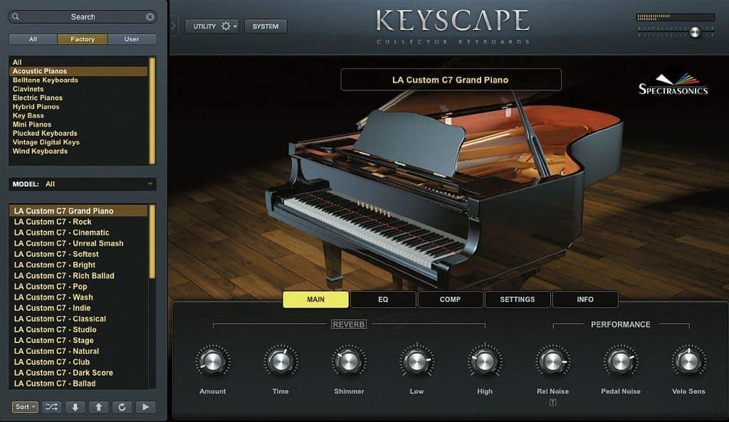 spectrasonics keyscape piano virtual instrument