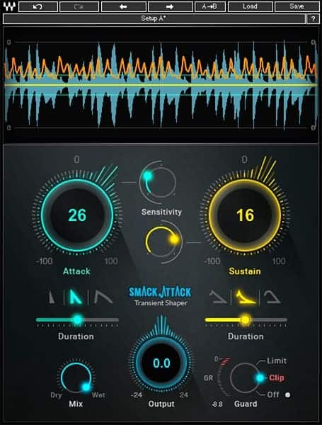 waves smack attack transient shaping plugin