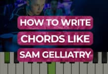 how to write chords like sam gellaitry