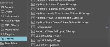 ableton live 11 grooves folder