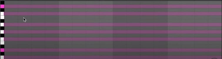 ableton live 11 piano roll highlighted keys & scale