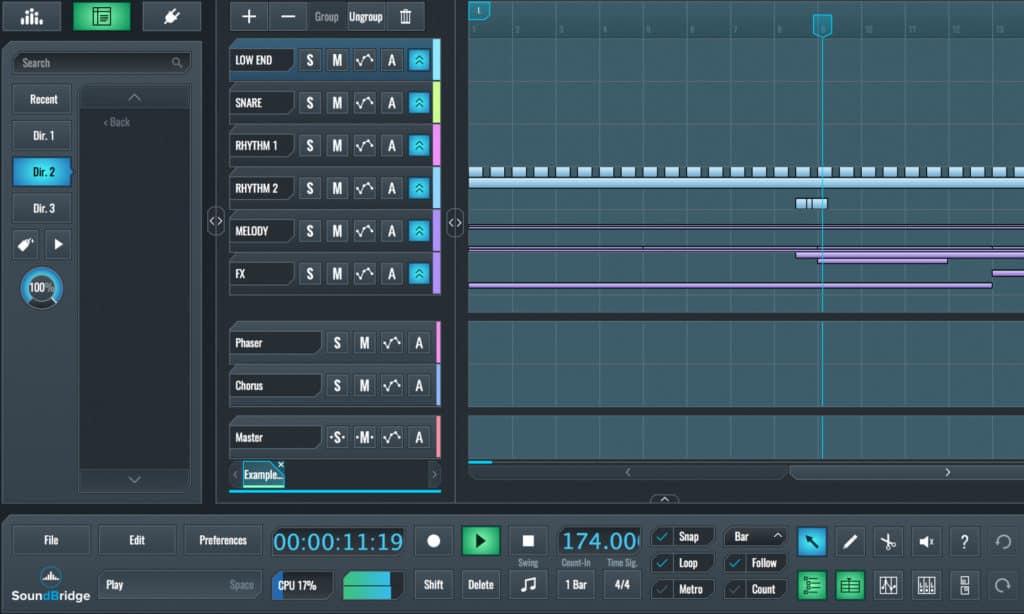 soundbridge free digital audio workstation