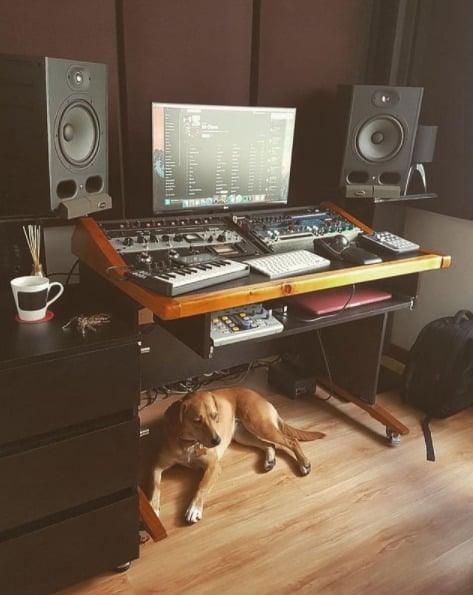 music studio organised