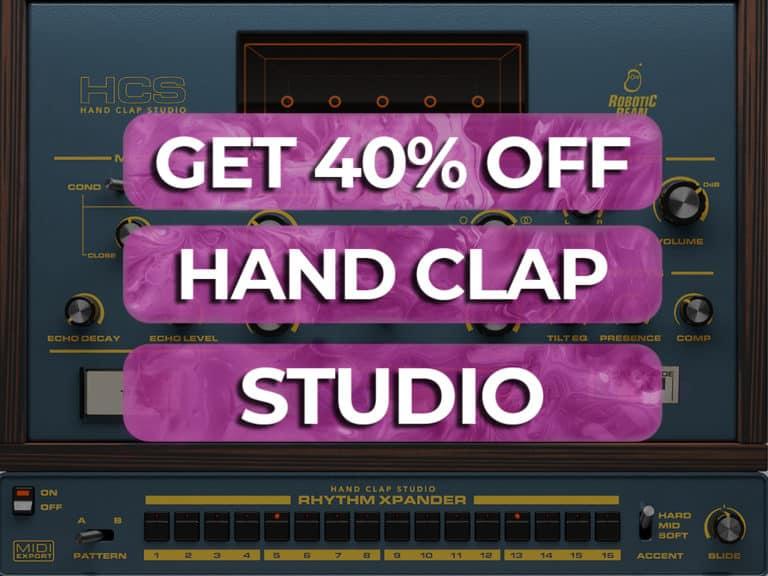 get 40% off hand clap studio