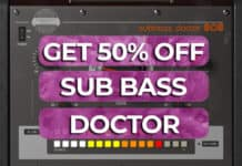 get 50% off sub bass doctor 808 united plugins