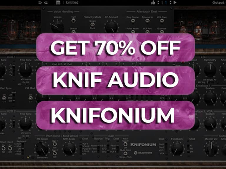 get 70% off knif audio knifonium