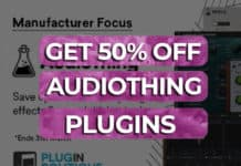 50% off audio thing plugins