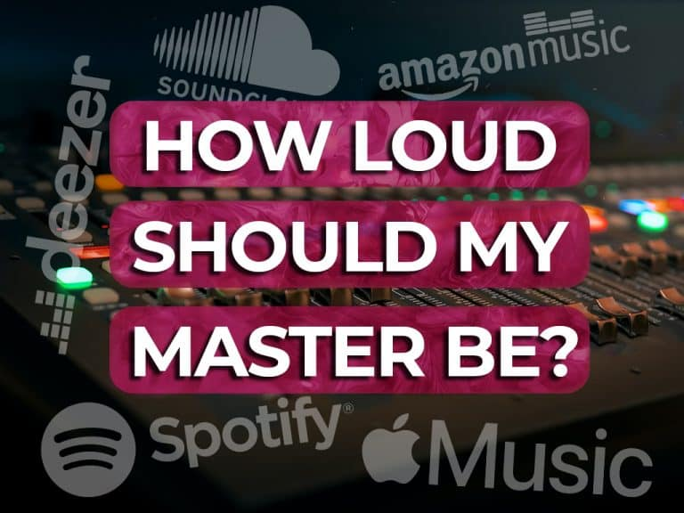 how loud should my master be