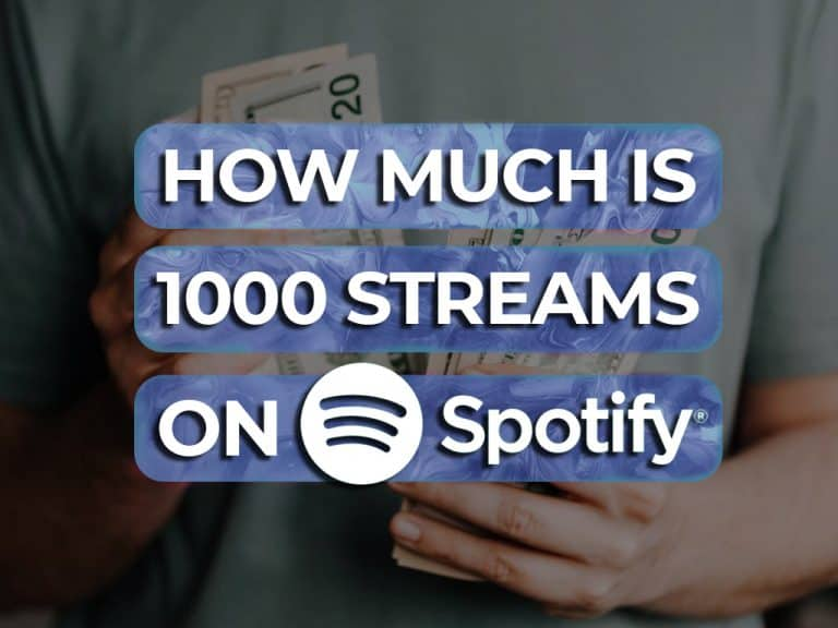 how much is 1000 streams on spotify