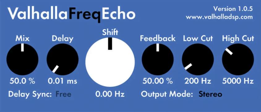 free delay vst plugin valhall freq echo