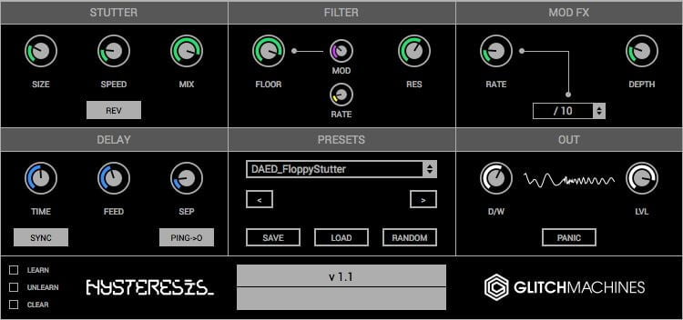 glitchmachines hysteresis free glitch delay plugin