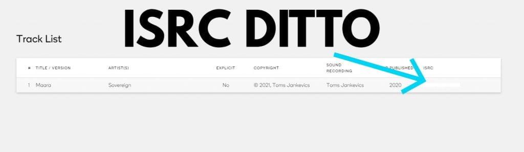 IRSC code ditto
