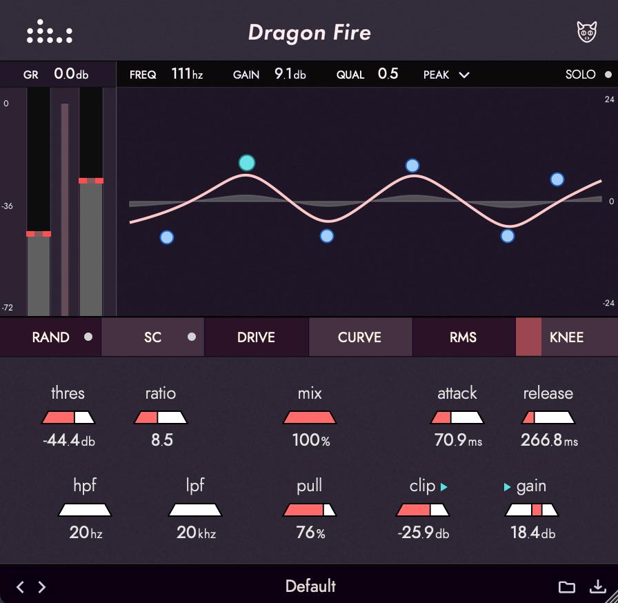 denise audio dragon fire multiband compressor plugin