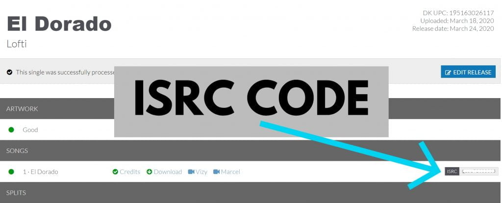 isrc code distrokid