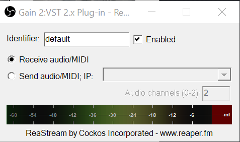 reastream settings obs ableton