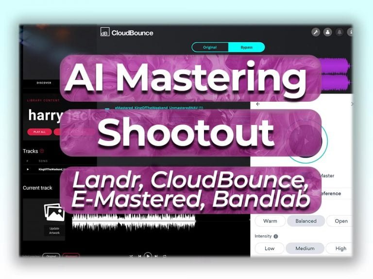 ai mastering shootout Landr vs cloud bounce vs emastered vs bandlab