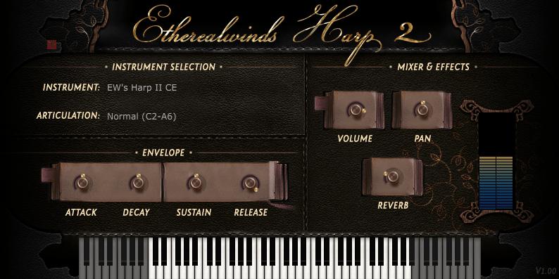 ethereal harp II vermilion studios