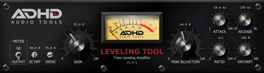 ADHD Leveling Tool saturation plugin