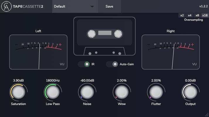Caelum Audio tape cassette 2 free saturation vst