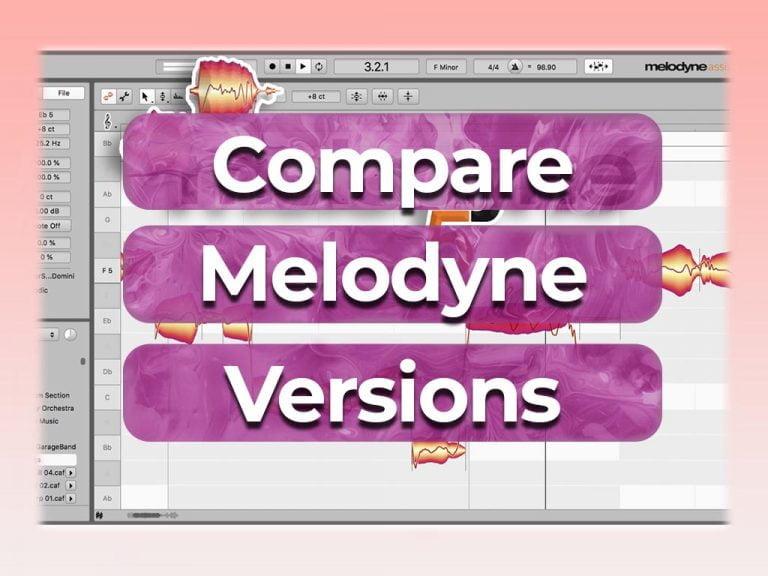 compare melodyne versions