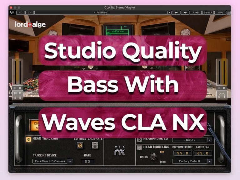 how to get studio quality bass with waves cla nx